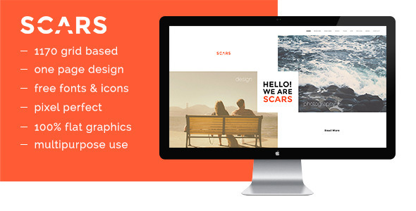 ThemeForest Scars PSD Template 10341338