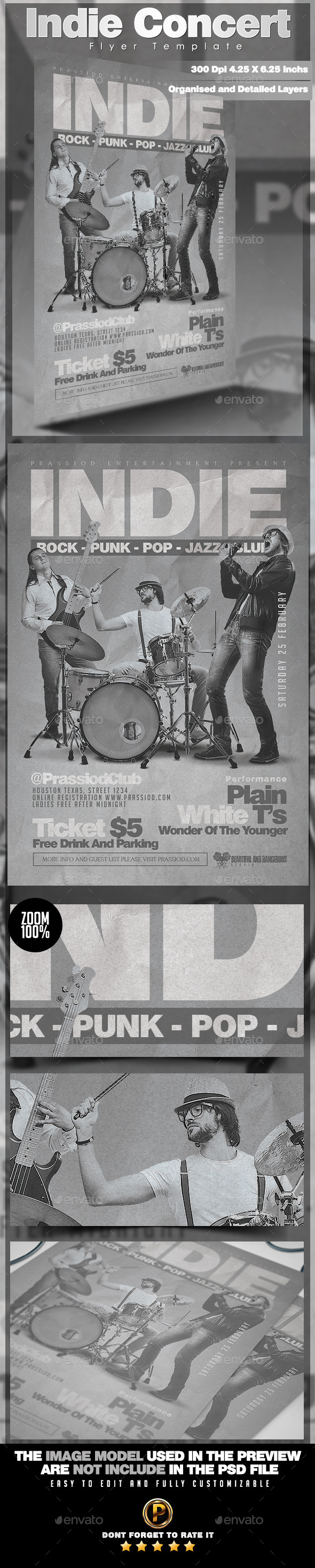 GraphicRiver Indie Concert Flyer Template 10341361