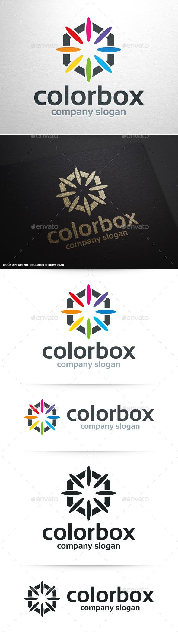 GraphicRiver Color Box Logo Template 10341478
