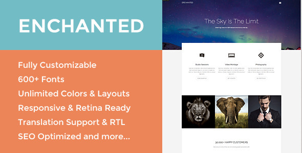 ThemeForest Enchanted Responsive Multipurpose theme 10341516