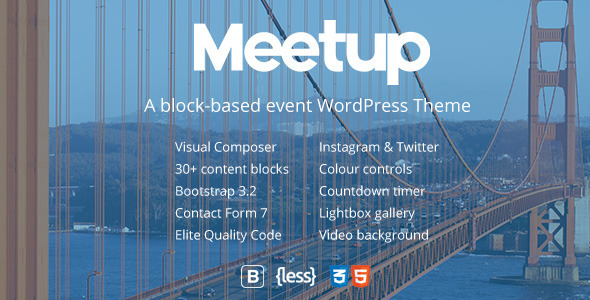 Meetup Conference & Event WordPress Theme