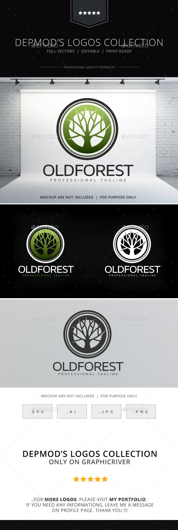 GraphicRiver Old Forest Logo 10341653