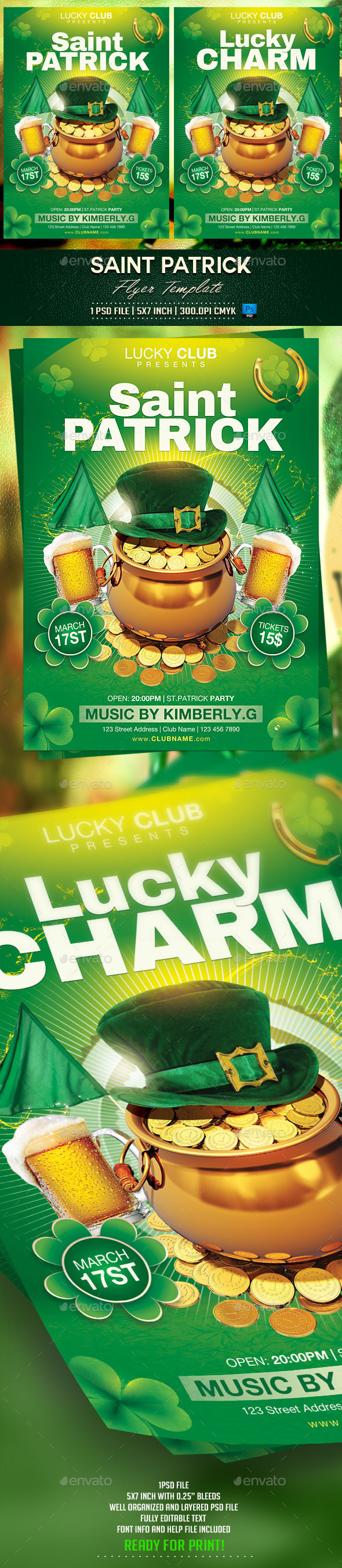 GraphicRiver Saint Patrick Flyer Template 10341701