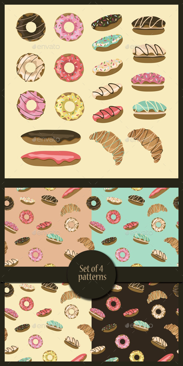 GraphicRiver Pastry Set 10342009