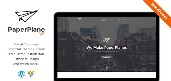 ThemeForest PaperPlane Creative Business Portfolio 9907012
