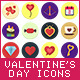 20 Valentine's Day Flat Icons Set - GraphicRiver Item for Sale