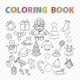 Winter Coloring Book - GraphicRiver Item for Sale