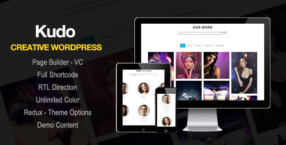 ThemeForest Kudo Portfolio WordPress Theme 10140627