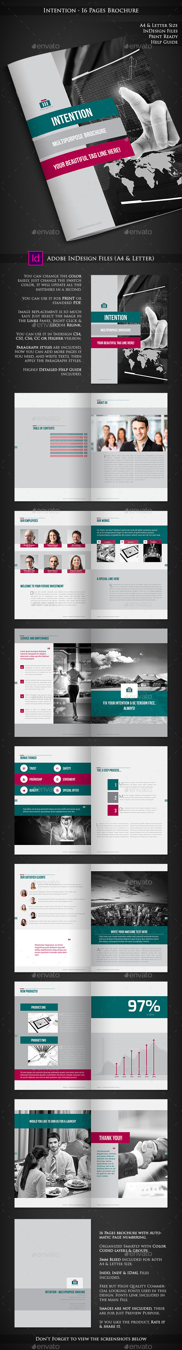 GraphicRiver Intention Multipurpose Corporate Brochure 10342736