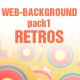 WEBSITE BACKGROUND pack1-RETRO - GraphicRiver Item for Sale