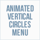 Animated Vertical Circles Menu