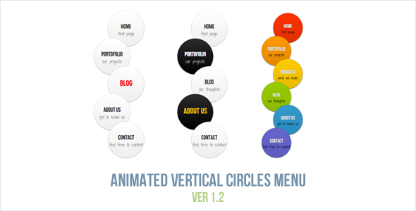 Animated Vertical Circles Menu - CodeCanyon Item for Sale