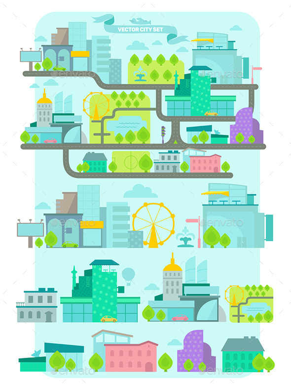 GraphicRiver City Set 10343509