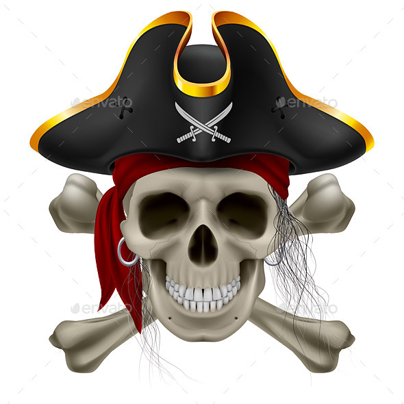 GraphicRiver Pirate Skull 10343667