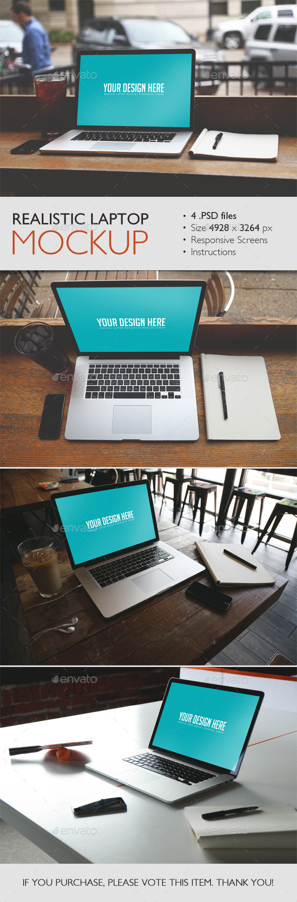 GraphicRiver Realistic Laptop Mockup 10343680