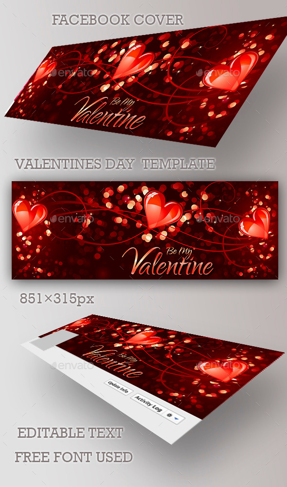 GraphicRiver Valentines Day Facebook Cover 10343694