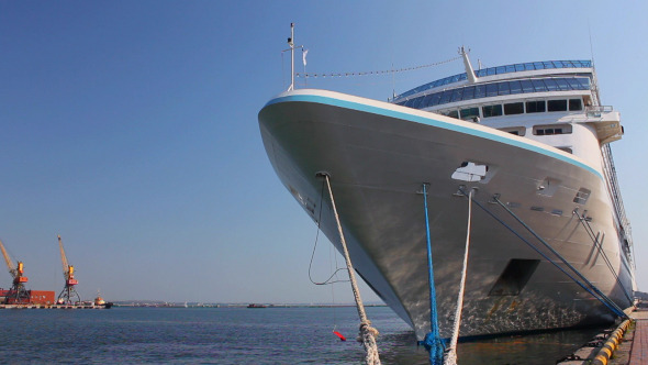 A White Luxury Cruise Liner