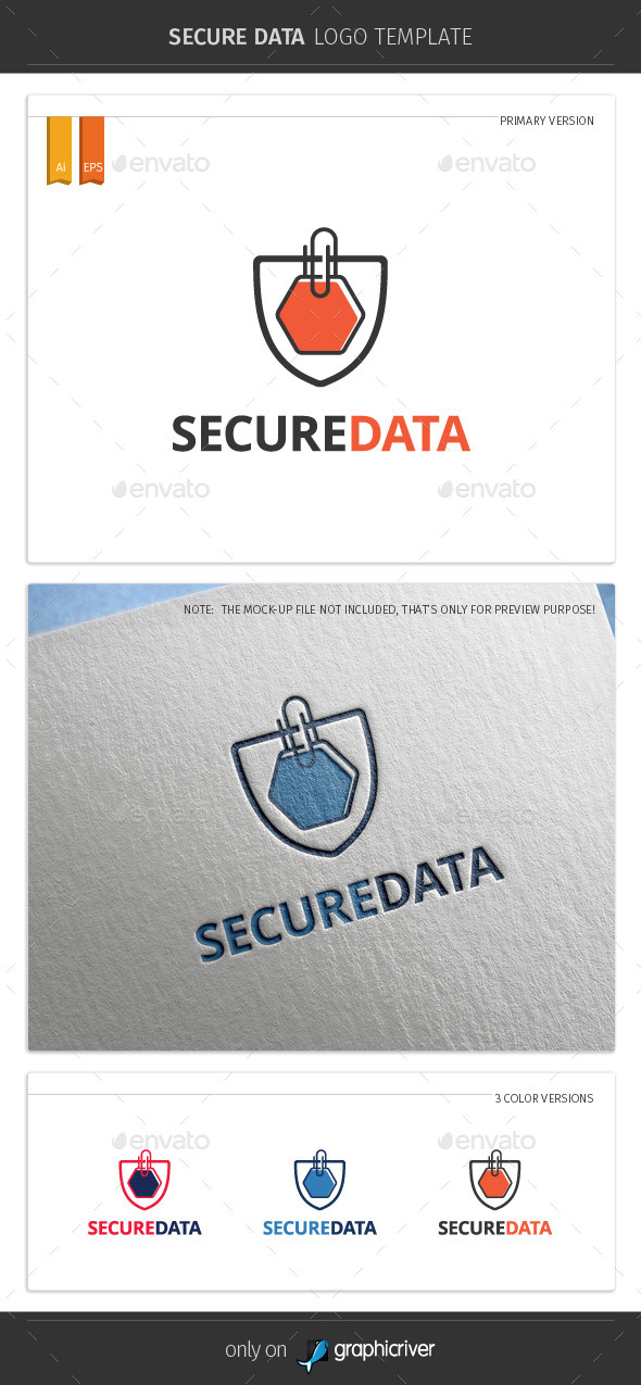 GraphicRiver Secure Data Logo Template 10343932