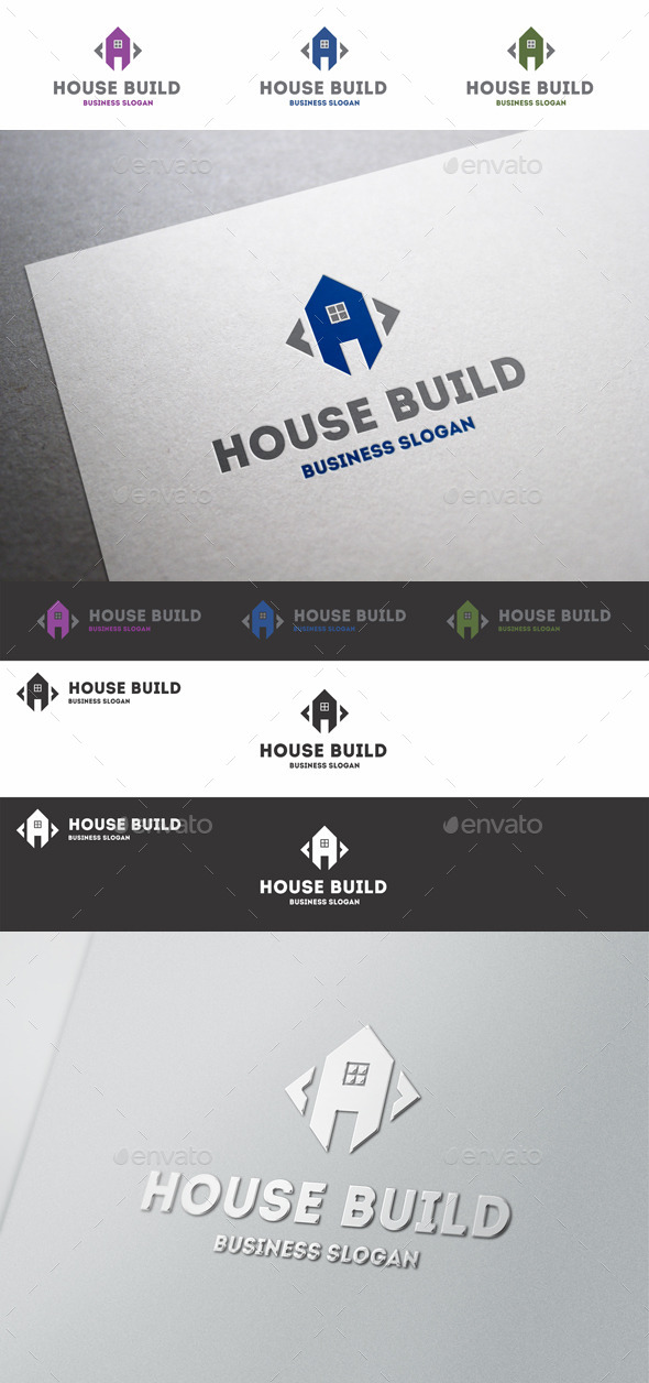 GraphicRiver Home Build Construct Logo 10344599