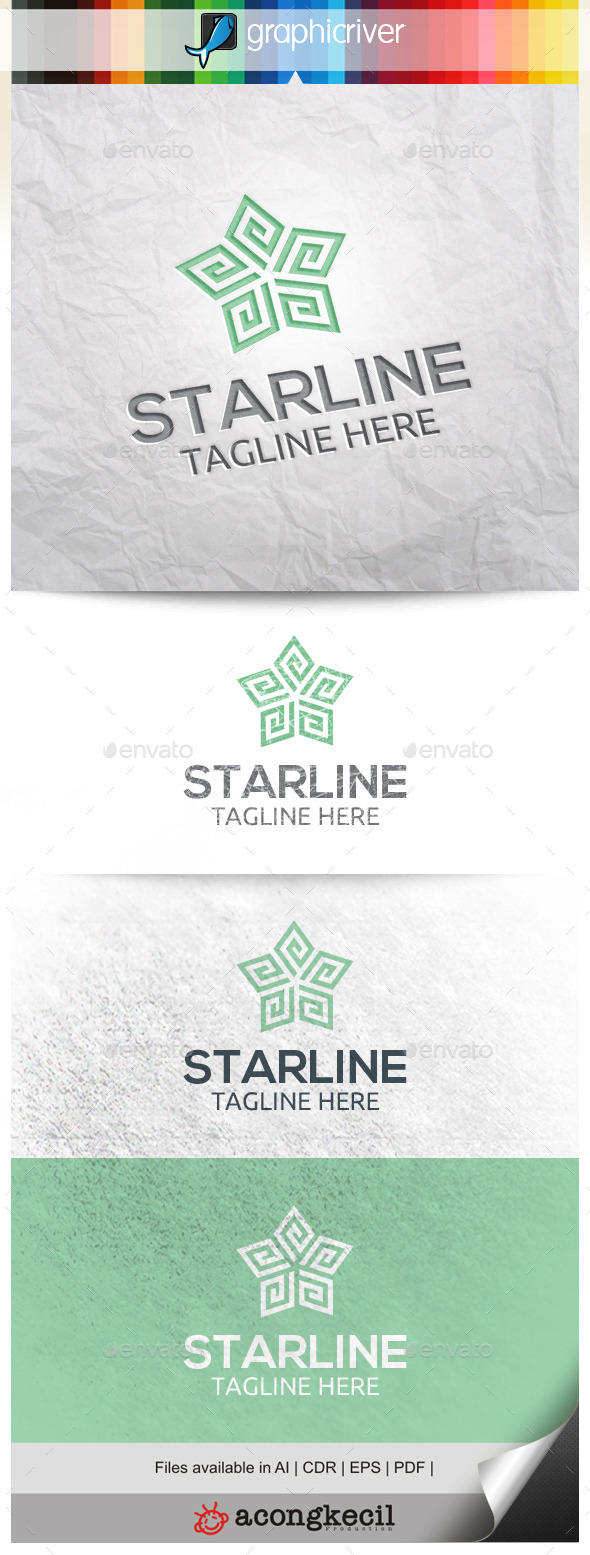 GraphicRiver Line Star V.2 10344634