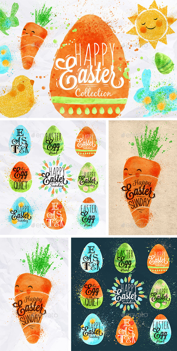 GraphicRiver Easter Symbols 10344641