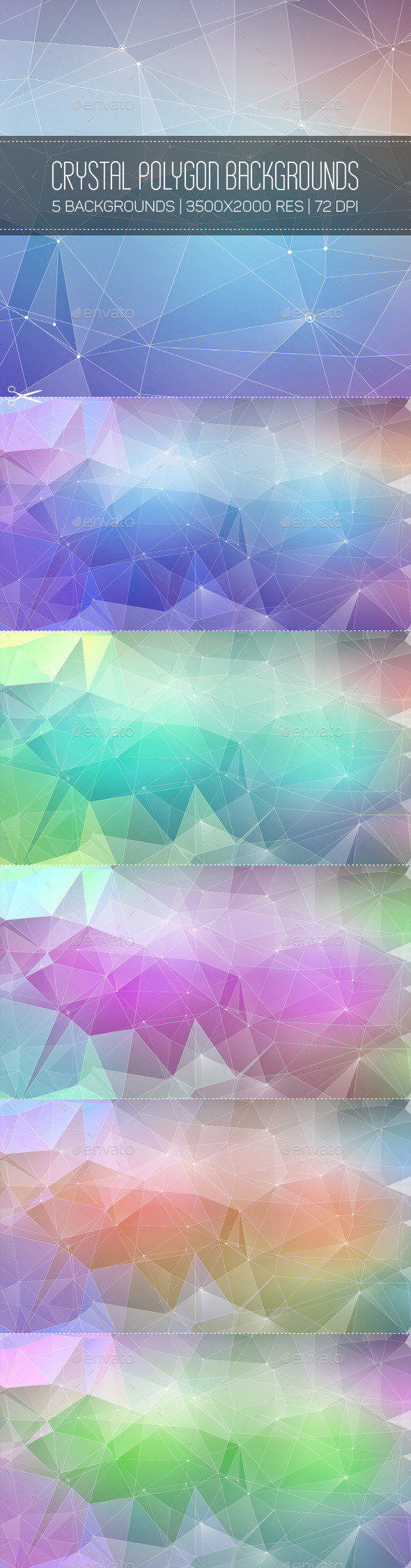 GraphicRiver Crystal Polygon Backgrounds 10345450