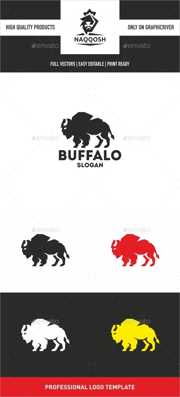 GraphicRiver Buffalo Logo 10345481
