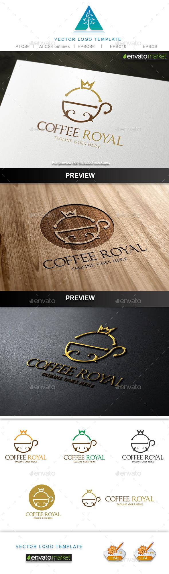 GraphicRiver Coffee Royal Logo 10345780