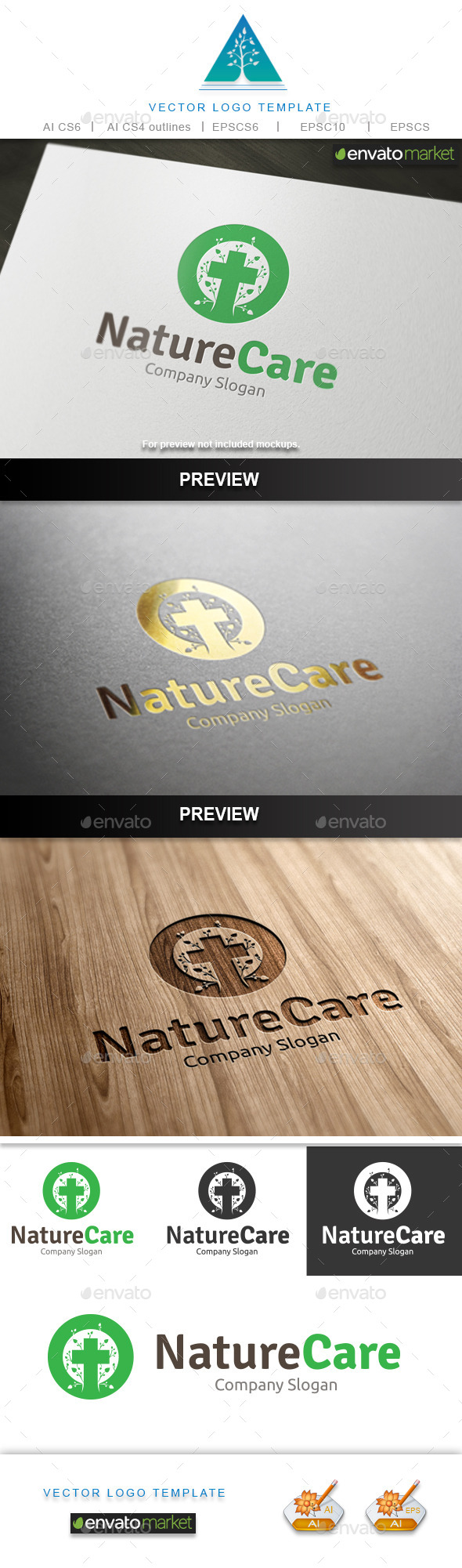 GraphicRiver Nature Care Logo 10345914