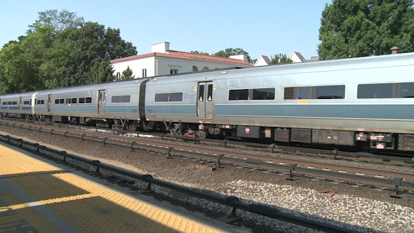 VideoHive Train Pulling Out Of Station 10345937