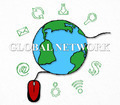 Global network, economy concep