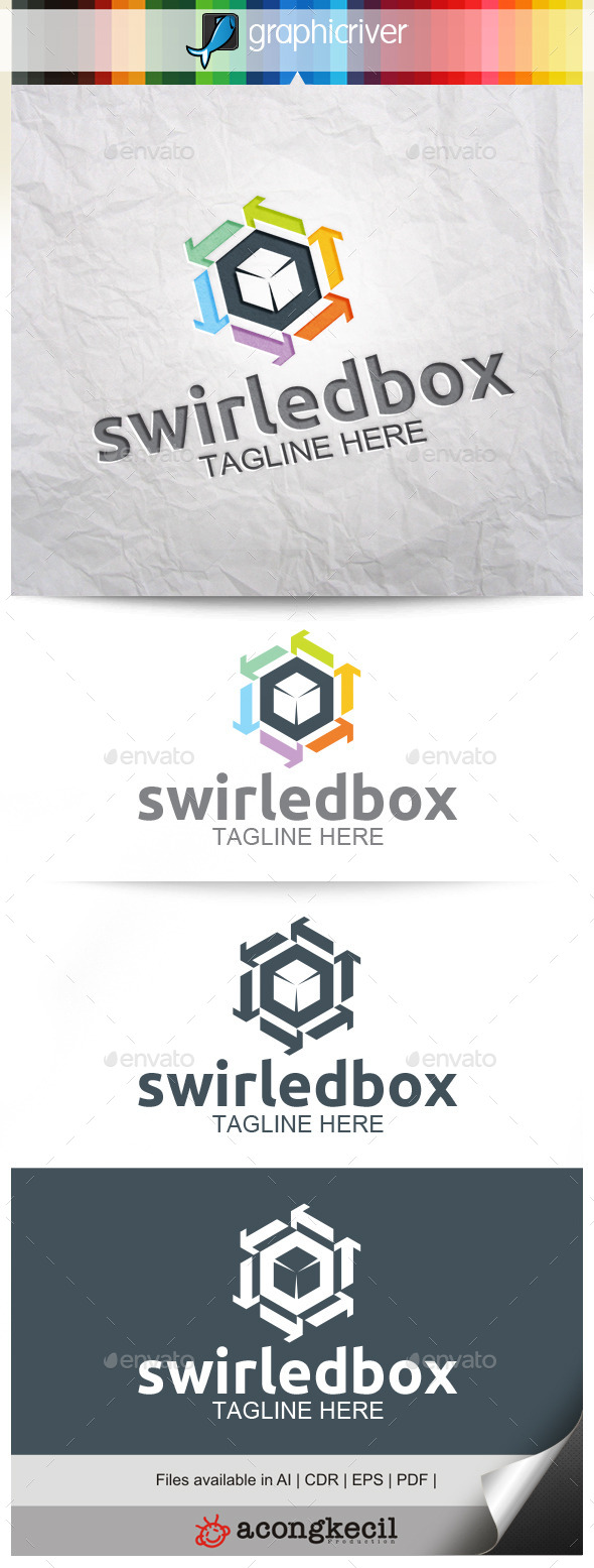 GraphicRiver Swirled Box 10345971