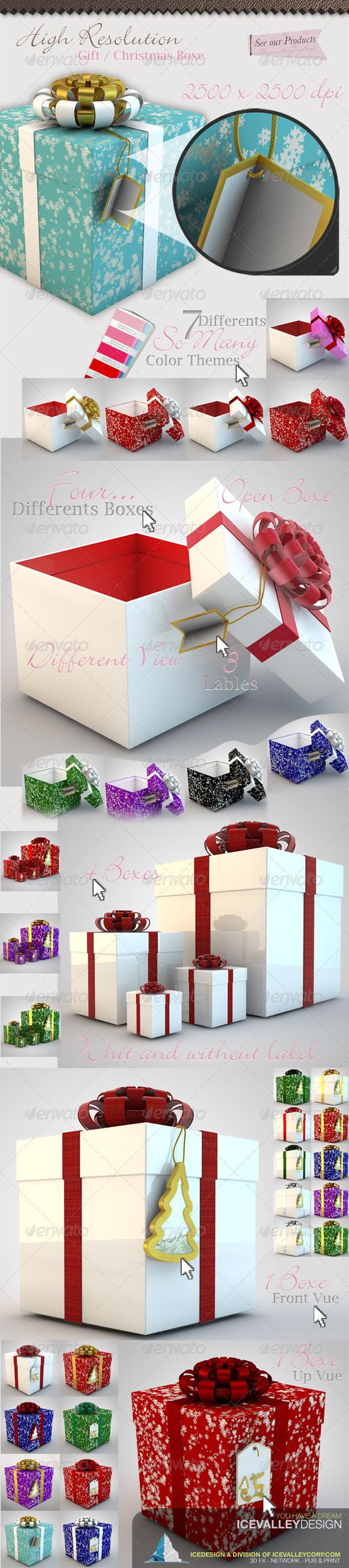 50 Christmas Gift Box Hi Quality