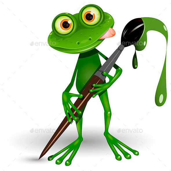 GraphicRiver Frog with Paint 10339917