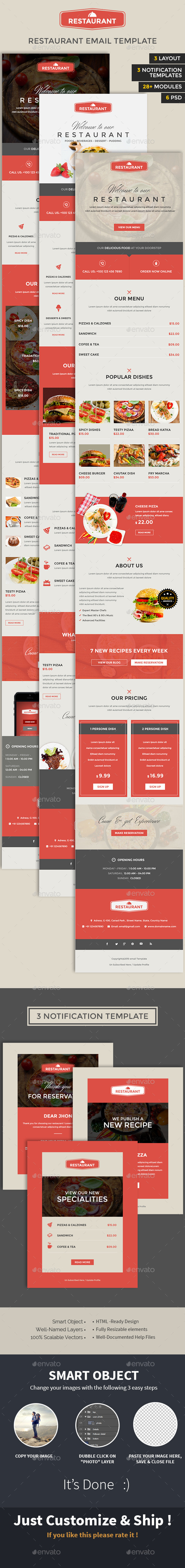 GraphicRiver Restaurant Email PSD Template 10347090