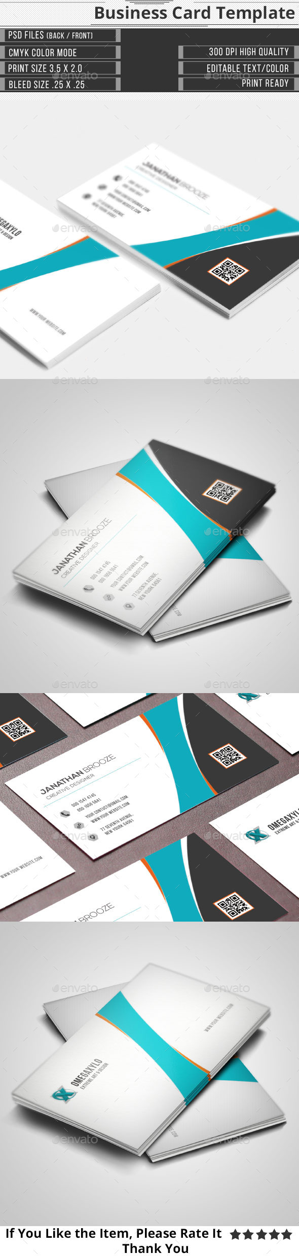 GraphicRiver Clean Corporate Business Card 10347166