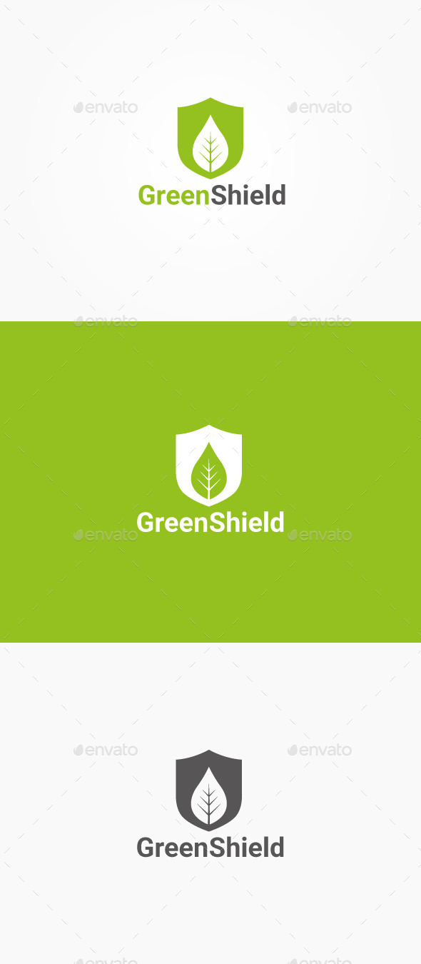 GraphicRiver Green Shield 10347203