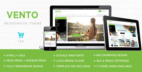 ThemeForest Vento Responsive Multipurpose OpenCart Theme 10347222