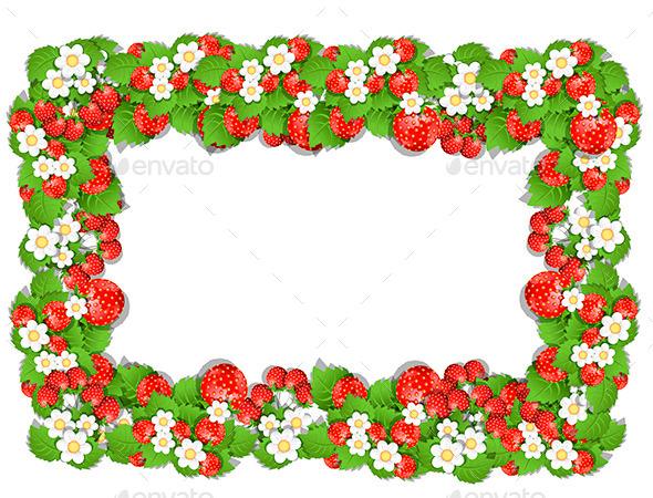 GraphicRiver Frame of Strawberry 10347502