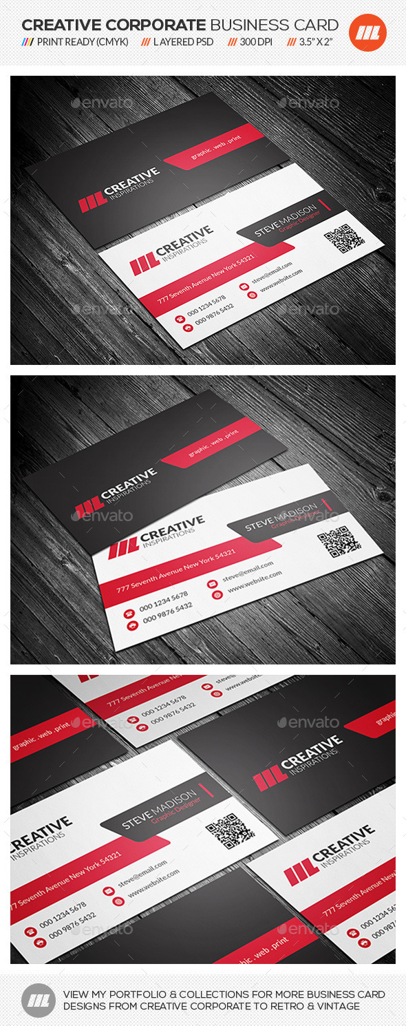 GraphicRiver Clean & Modern Corporate Business Card 10347589
