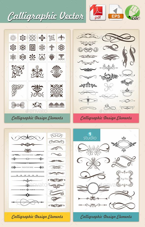 GraphicRiver Agastya Calligraphic Vectors 10335063