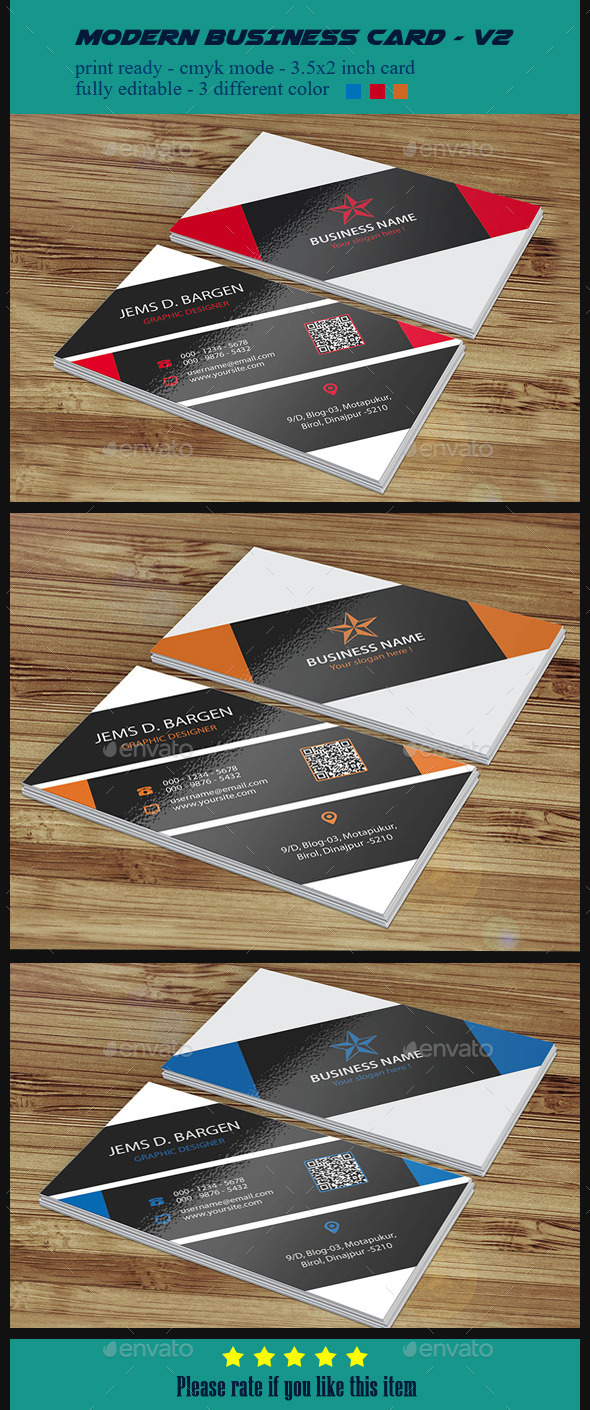 GraphicRiver Modern Business Card V2 10347742