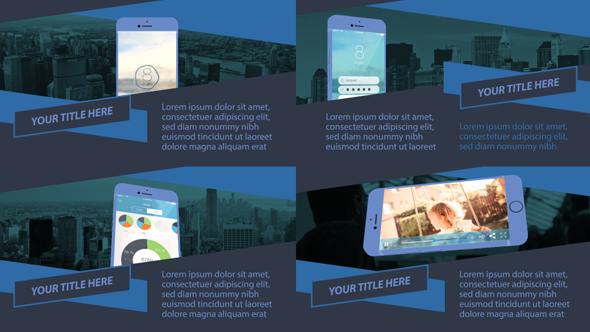 Parallax Mobile App Promo