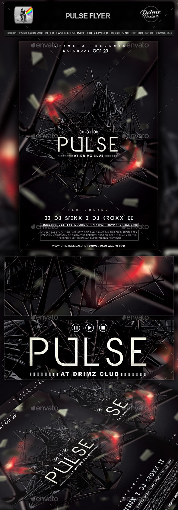GraphicRiver Pulse Flyer 10348111