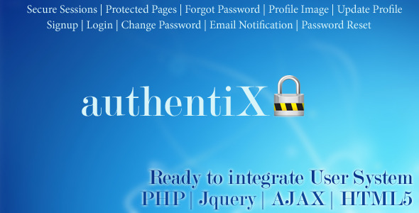 CodeCanyon Authentix Ready to Implement User System 10348158