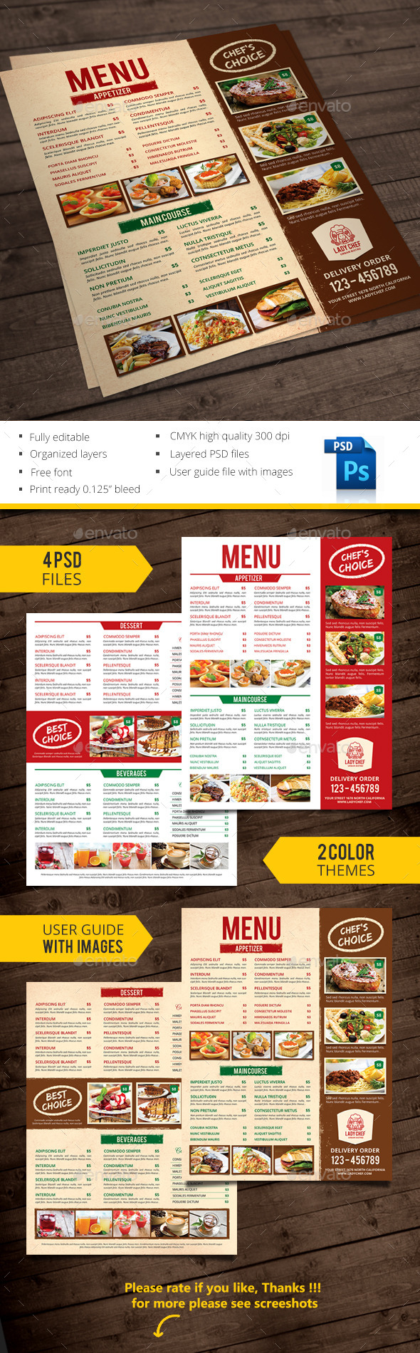 GraphicRiver Restaurant Menu 10311158
