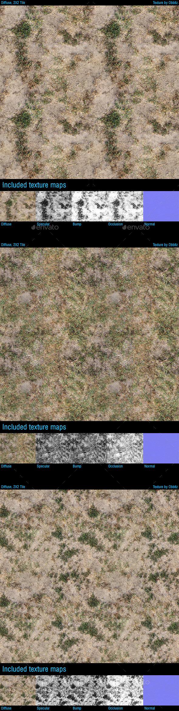3DOcean Dried Grass Ground Pack of 3 Textures 10349051