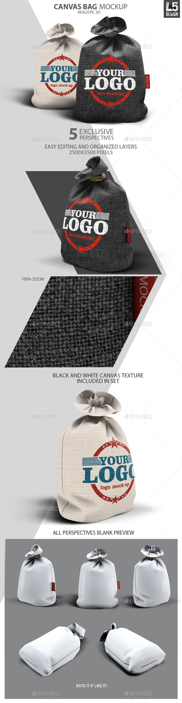 GraphicRiver Canvas Bag Mock-Up 10349126