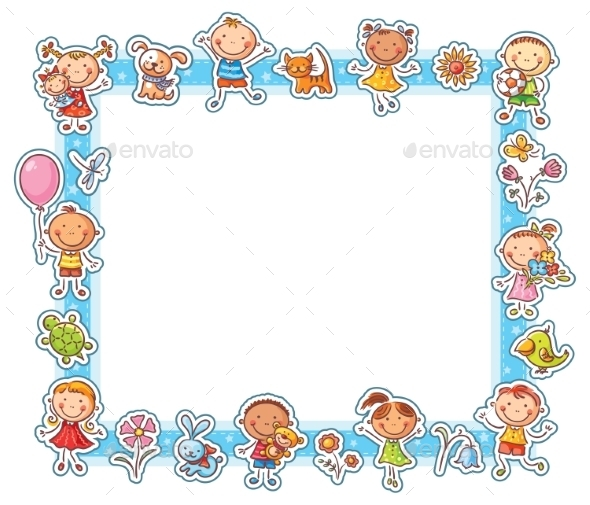 GraphicRiver Happy Kids Rectangular Frame 10349178