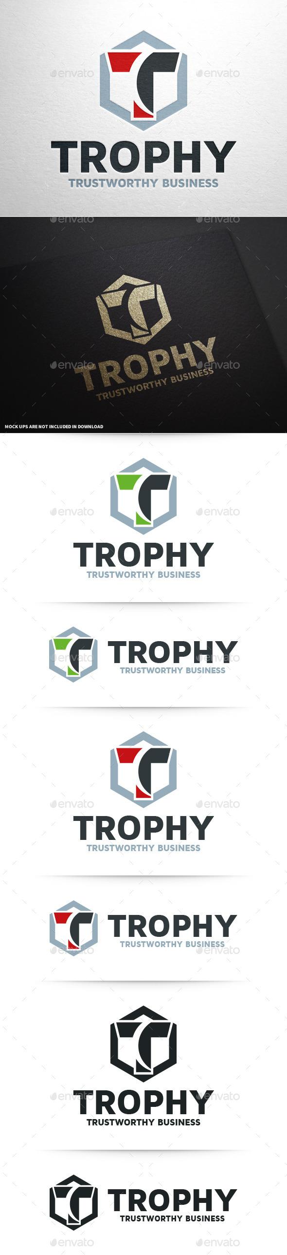 GraphicRiver Trophy Letter T Logo 10349222